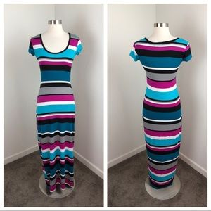 Derek Heart striped maxi dress
